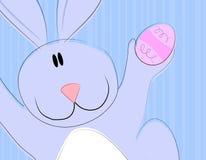 Cartoon Easter Bunny Holding Egg 2 Stock Photo