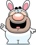 Cartoon Easter Bunny Idea Stock Photography