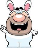 Cartoon Easter Bunny Idea Stock Photography