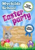 Cartoon Easter Bunny Invite Royalty Free Stock Photography