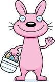 Cartoon Easter Bunny Waving Stock Photos