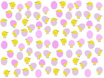 Cartoon easter chicks stock image