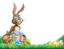 Cartoon Easter Egg Basket Hunt Bunny Royalty Free Stock Images
