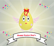 Cartoon Easter egg. That is a good advertisement to promote your business in Easter Day's Royalty Free Stock Photos
