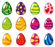 Cartoon Easter egg icon Stock Image