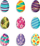Cartoon Easter egg icon Royalty Free Stock Photos