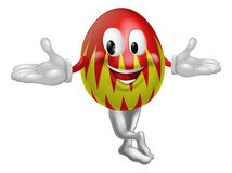 Cartoon Easter Egg Man Stock Photography