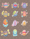 Cartoon Easter egg stickers Stock Photos
