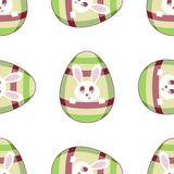 Stock vector easter eggs and bunnies seamless pattern on white background royalty free illustration