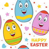 Cartoon Easter Eggs Seamless Pattern Royalty Free Stock Photography