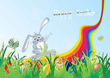 Cartoon easter foliage Royalty Free Stock Images