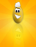 Cartoon Easter funny Egg Stock Image