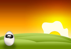 Cartoon Easter funny Egg Stock Photo