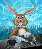 Cartoon Easter Party Bunny DJ Royalty Free Stock Photos