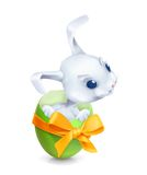 Cartoon Easter rabbit Stock Photos