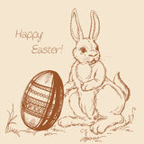 Cartoon Easter scene Royalty Free Stock Photo