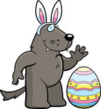 Cartoon Easter Wolf Royalty Free Stock Images