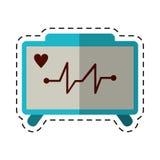 Cartoon ecg heart machine medical device. Vector illustration eps 10 Royalty Free Stock Photography