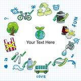 Cartoon eco card Stock Images