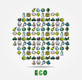 Cartoon Eco Card Royalty Free Stock Photo