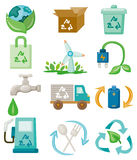 Cartoon eco icon Stock Photo