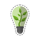 Cartoon ecology bulb leaf nature Stock Photos
