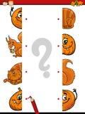 Cartoon educational halves task Royalty Free Stock Images