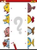 Cartoon educational halves task Stock Photos