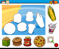 Cartoon educational preschool task Stock Photo
