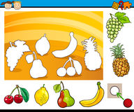 Cartoon educational task for children Stock Images