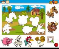 Cartoon educational task for kids Royalty Free Stock Photo