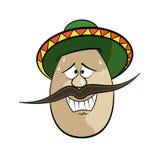 Cartoon Egg Face Character Stock Image