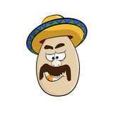 Cartoon Egg Face Character Stock Photography