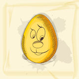 Cartoon egg for Happy Easter celebration. Stock Images