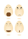Cartoon egg smiley set Royalty Free Stock Photos