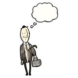 Cartoon egghead businessman Royalty Free Stock Images