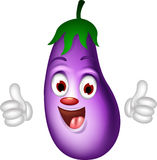 Cartoon eggplant giving thumbs up Stock Photos