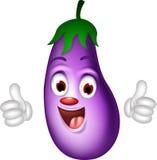 Cartoon eggplant giving thumbs up Stock Photos