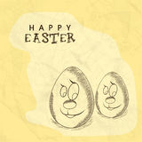 Cartoon eggs for Happy Easter celebration. Royalty Free Stock Photography