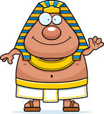 Cartoon Egyptian Pharaoh Waving Royalty Free Stock Photography
