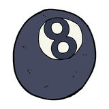 cartoon eight ball Royalty Free Stock Images