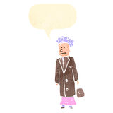 Cartoon elderly woman Stock Images