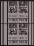Cartoon electric box illustration Royalty Free Stock Photo