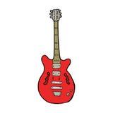 Cartoon electric guitar Stock Images