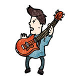 Cartoon electric guitar player Royalty Free Stock Images