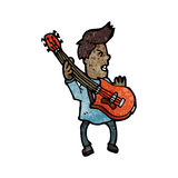 Cartoon electric guitar player Stock Photos