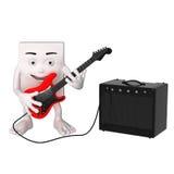 Cartoon electric guitar player Stock Image