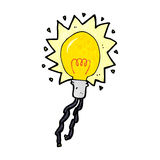 Cartoon electric light bulb Royalty Free Stock Photo