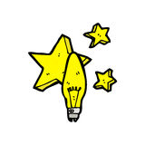 Cartoon electric light bulb symbol Royalty Free Stock Photo