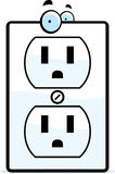 Cartoon Electrical Outlet. A cartoon electrical outlet smiling and happy Stock Image